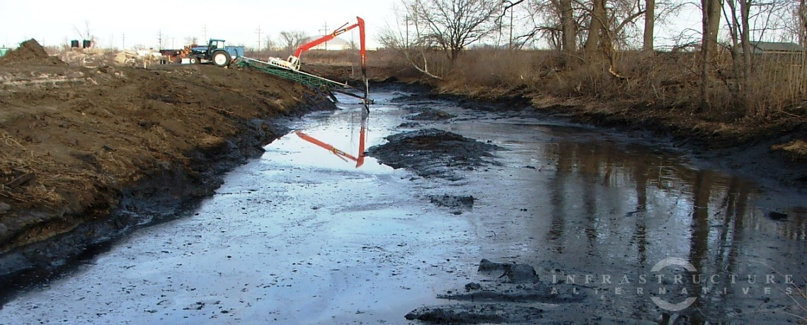 Creosote contaminated pond remediation project, Sauget, Illinois