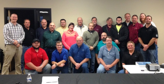 Some of IAI's young and 'young-at-heart' Contract Operations staff at the 2013 Plant Managers' meeting