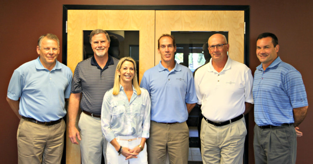 Rioux (center), with the IAI Board of Directors, from left: Glen Vander Well, Kent Trierweiler, Dana Trierweiler, Bill Cretens and Paul Stage